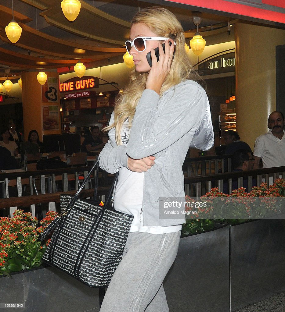 Paris Hilton sighting on October 7, 2012 in New York City.