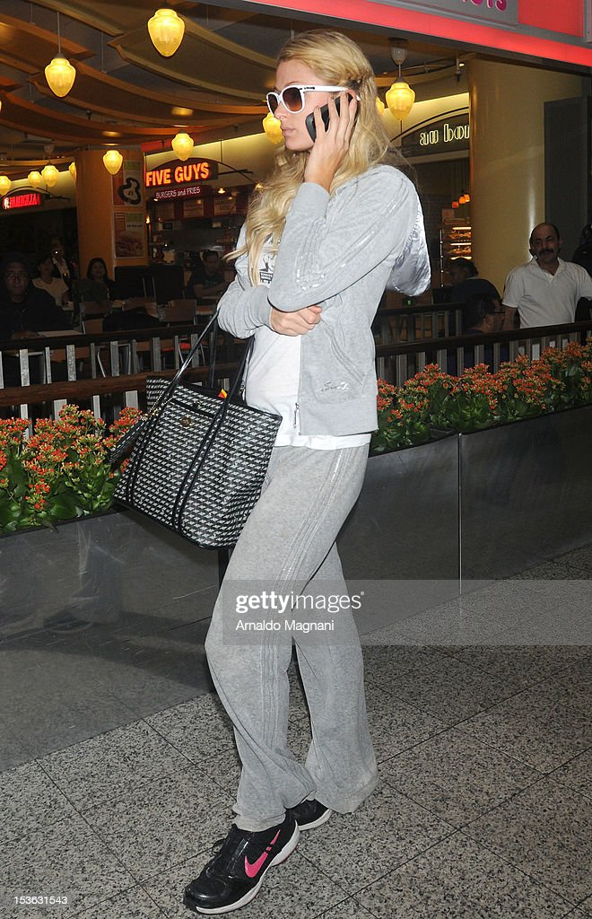 Paris Hilton sighting on October 7, 2012 in New York City.