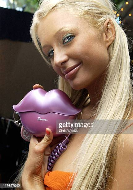 Paris Hilton visits MGA Entertainment's 'Bratz' during 2003 Teen Choice Awards Backstage Creations Day of Show at Universal Amphitheatre in Universal...