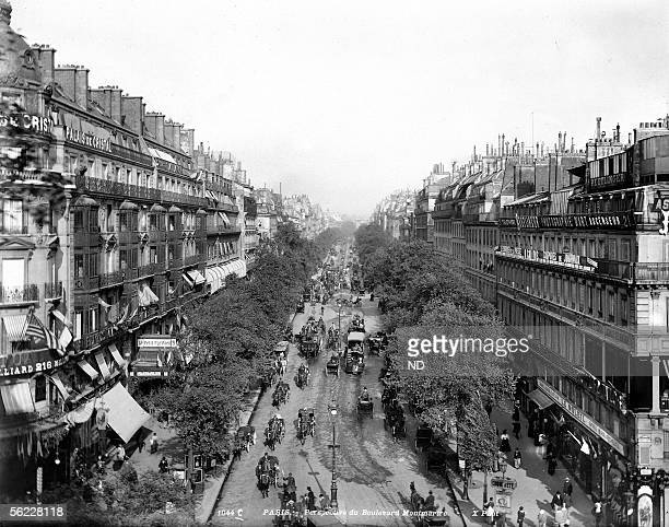 Paris IInd and IXth districts The boulevard Montmartre by 1900