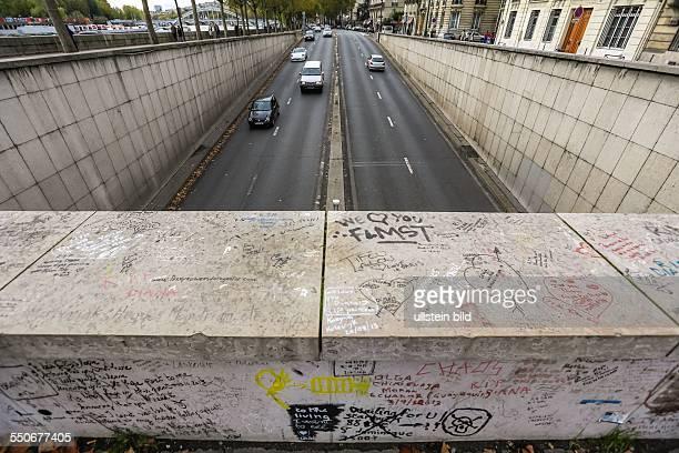 Die Einfahrt in den Tunnel der Pont d'Alba in dem Lady Diana bei einem Autounfall ums Leben kam