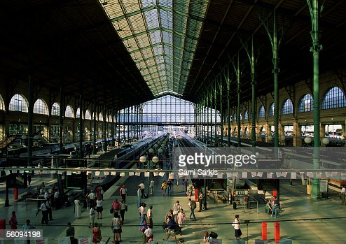 Paris, interior of train station.