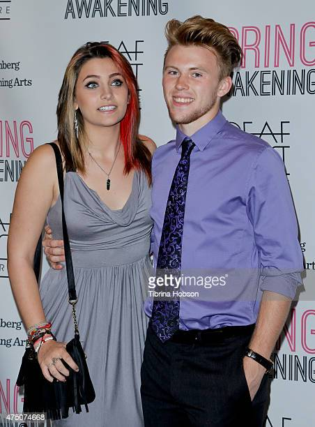 Paris Jackson and Chester Castellaw attend the opening night of Deaf West Theatre's 'Spring Awakening' at Wallis Annenberg Center for the Performing...