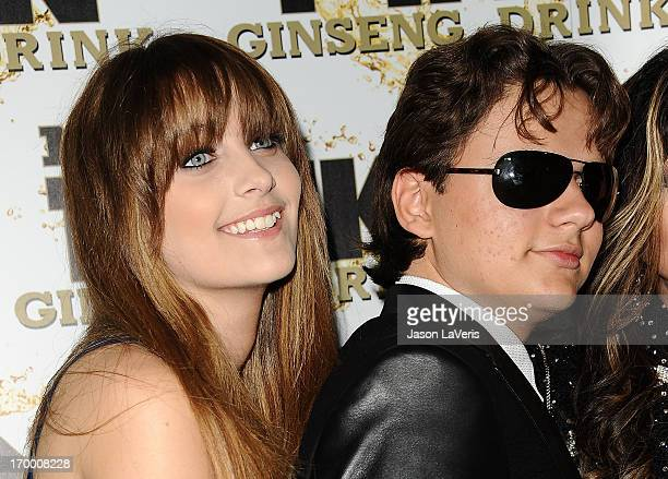 Paris Jackson and Prince Michael Jackson attend the Mr Pink Ginseng Drink launch party at Regent Beverly Wilshire Hotel on October 11 2012 in Beverly...