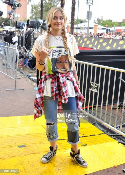 Paris Jackson arrives at the 2017 MTV Movie And TV Awards at The Shrine Auditorium on May 7 2017 in Los Angeles California