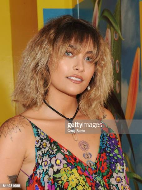 Paris Jackson attends Art Commerce The Exhibition opening at Skylight Modern on September 8 2017 in New York City