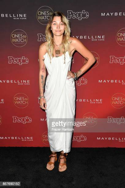 Paris Jackson attends People's 'Ones To Watch' at NeueHouse Hollywood on October 4 2017 in Los Angeles California