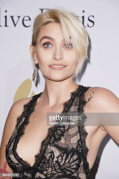 Paris Jackson attends PreGRAMMY Gala and Salute to Industry Icons Honoring Debra Lee at The Beverly Hilton on February 11 2017 in Los Angeles...