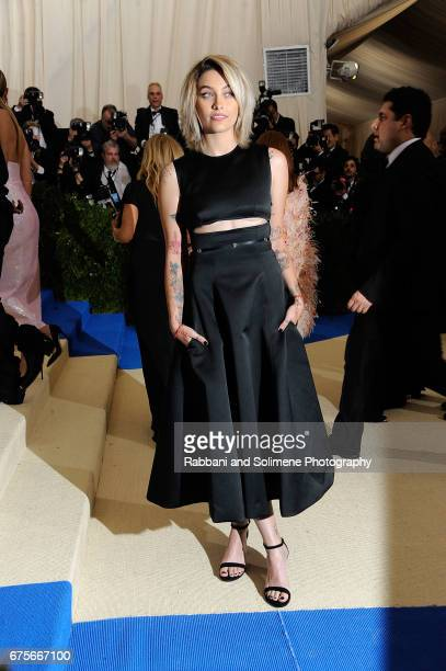 Paris Jackson attends 'Rei Kawakubo/Comme des Garcons Art Of The InBetween' Costume Institute Gala Arrivals at Metropolitan Museum of Art on May 1...
