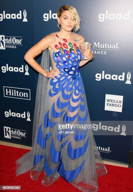 Paris Jackson attends the 28th Annual GLAAD Media Awards on April 01 2017 in Beverly Hills California