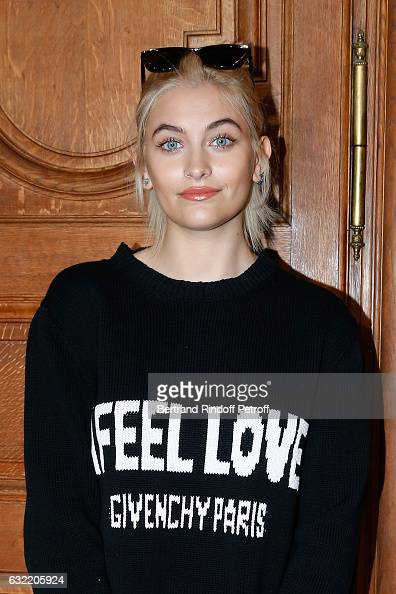 Paris Jackson attends the Givenchy Menswear Fall/Winter 20172018 show as part of Paris Fashion Week on January 20 2017 in Paris France