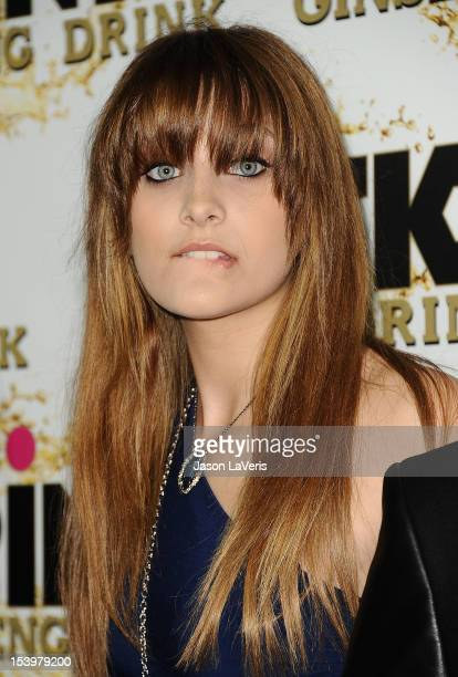 Paris Jackson attends the Mr Pink Ginseng Drink launch party at Regent Beverly Wilshire Hotel on October 11 2012 in Beverly Hills California