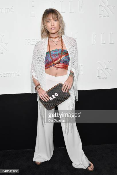Paris Jackson attends the NYFW Kickoff Party A Celebration Of Personal Style hosted by E ELLE IMG and sponsored by TRESEMME on September 6 2017 in...