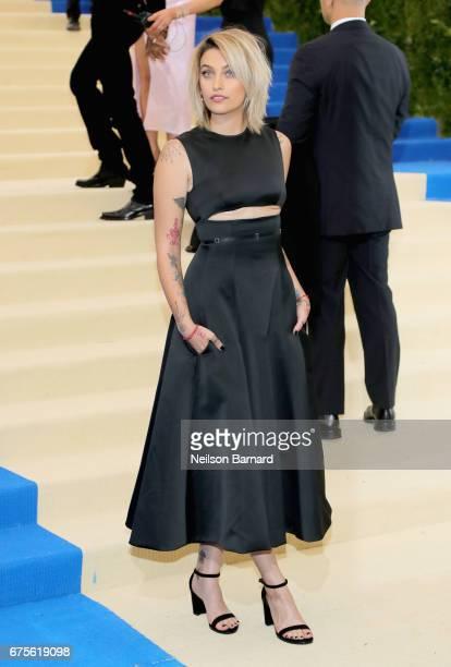 Paris Jackson attends the 'Rei Kawakubo/Comme des Garcons Art Of The InBetween' Costume Institute Gala at Metropolitan Museum of Art on May 1 2017 in...