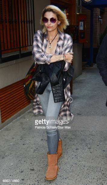 Paris Jackson is seen on March 21 2017 in New York City