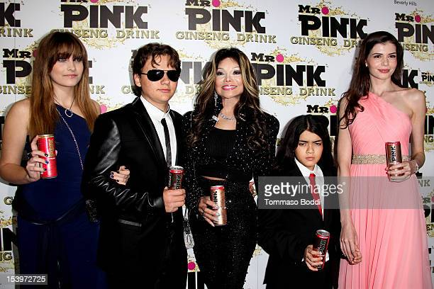 Paris Jackson Prince Jackson La Toya Jackson Blanket Jackson and Monica Gabor attend the Mr Pink ginseng drink launch party held at the Regent...