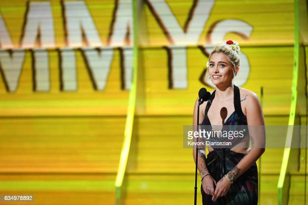 Paris Jackson speaks onstage during The 59th GRAMMY Awards at STAPLES Center on February 12 2017 in Los Angeles California