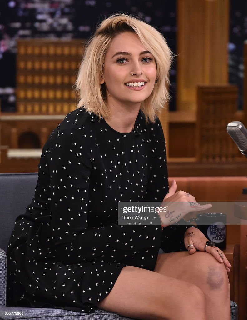 Paris Jackson Visits 'The Tonight Show Starring Jimmy Fallon' at Rockefeller Center on March 20, 2017 in New York City.