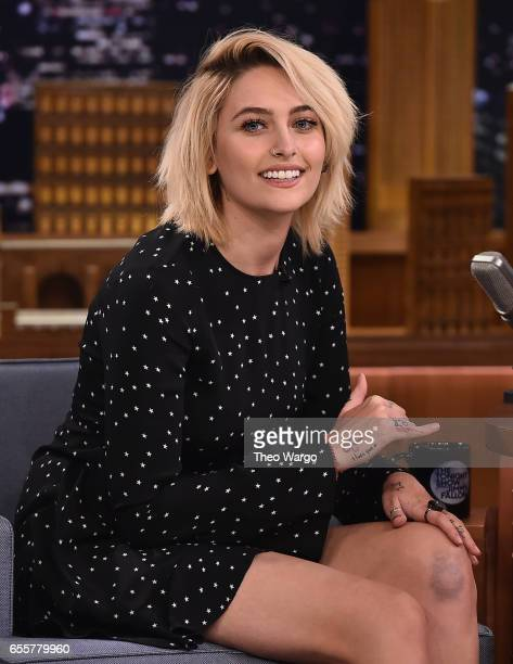Paris Jackson Visits 'The Tonight Show Starring Jimmy Fallon' at Rockefeller Center on March 20 2017 in New York City