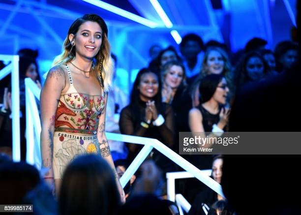 Paris Jackson walks onstage during the 2017 MTV Video Music Awards at The Forum on August 27 2017 in Inglewood California