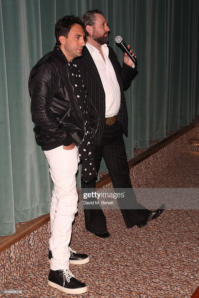 Paris Kain and Patrick Brendan O'Neill attends a special screening of 'The Uncountable Laughter of The Sea' at Soho House Dean Street on February 7, 2016 in London, England.
