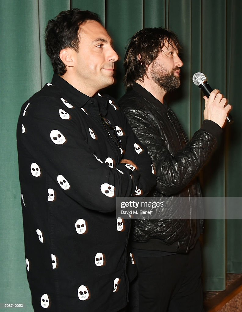 Paris Kain (L) and Patrick Brendan O'Neill speak onstage before a special screening of 'The Uncountable Laughter of The Sea' at Soho House Dean Street on February 6, 2016 in London, England.