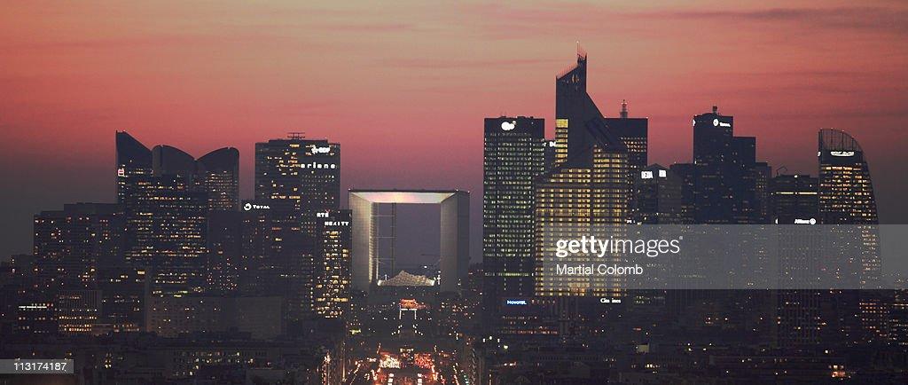 Paris - La Defense by night : Stock Photo