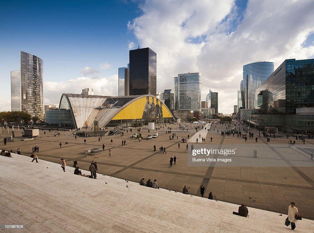 Paris, La Defense. La Defense business district. : Stock Photo