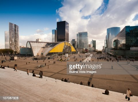 Paris, La Defense. La Defense business district.