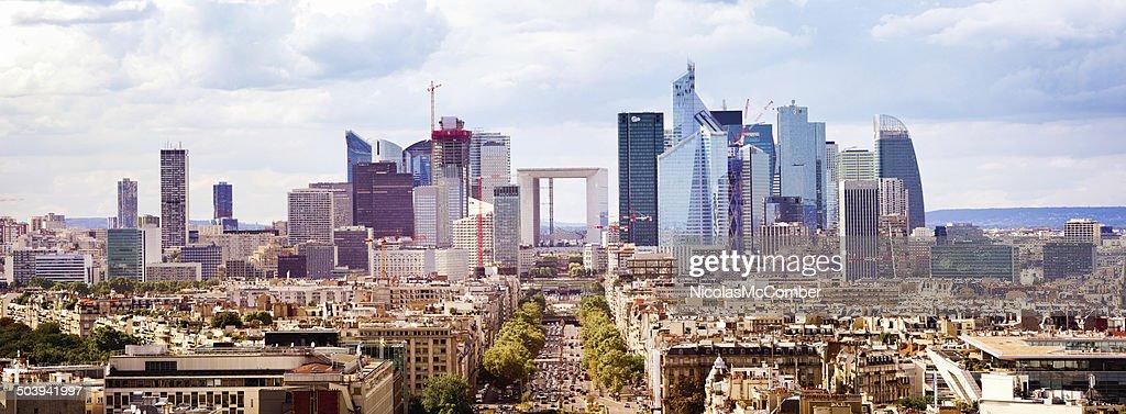 Paris La Defense panoramic view
