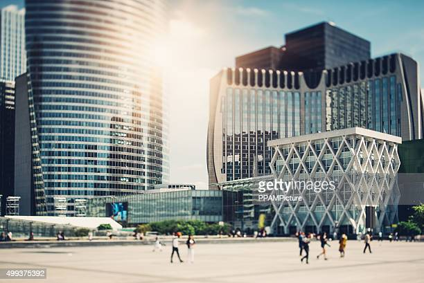 Paris, La Defense Tilt Shift Shot