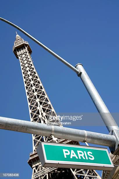 Paris Las Vegas and Paris Street Name Sign, USA
