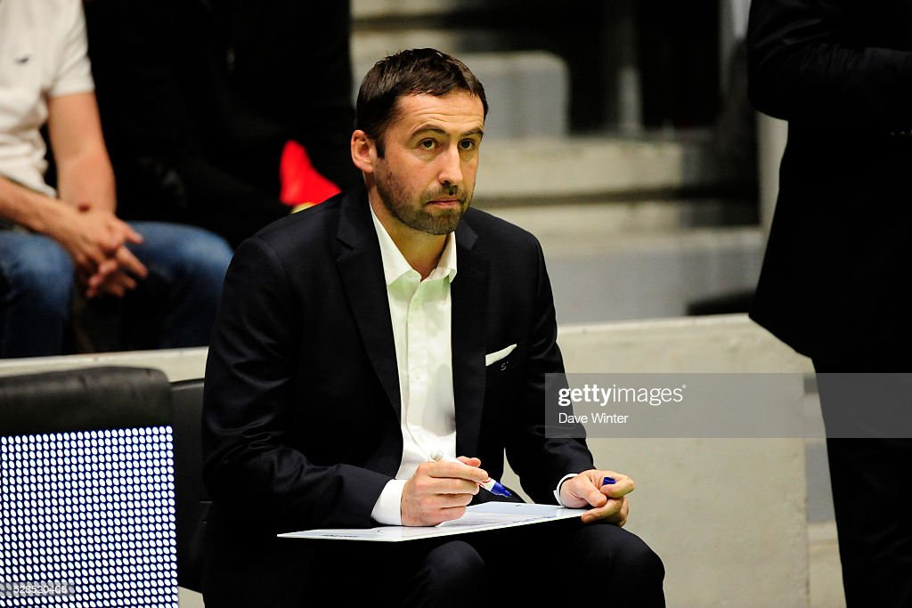Paris Levallois coach Frederic Fauthoux during the basketball French Pro A League match between Nanterre and Paris Levallois on May 5, 2016 in Nanterre, France.