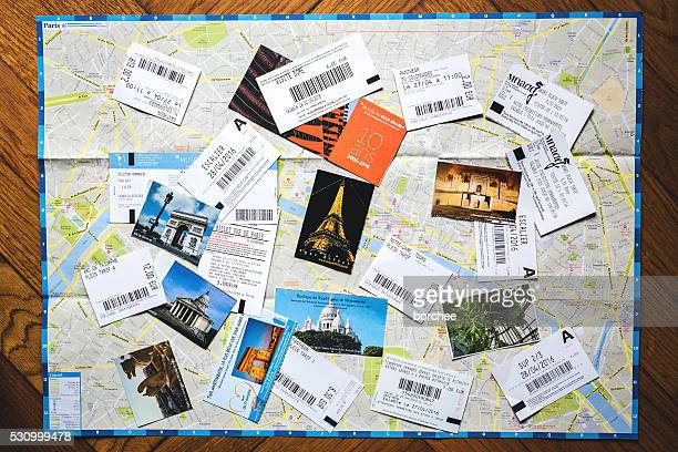 Paris Map With Tickets From Paris