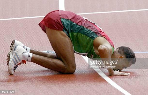 WM 2003 Paris Marathon/Maenner Gold fuer Jaouad GHARIB/MAR