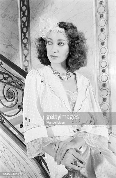Paris March 10 the actress Marisa BERENSON at Musee JacquemartAndre or she will shoot his next film 'Desire' by JeanPaul Scarpitta Portrait of Marisa...