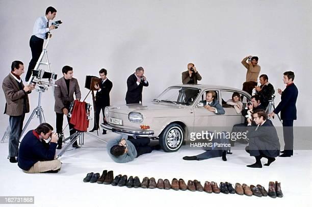 Paris Match Photographers Present The Auto Show 1968 Their Way The Volkswagen 411 L Seen By Patrice Habans La Volkswagen 411 L dans la fosse aux...