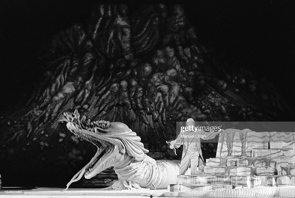 Paris May 12 the opera 'The Magic Flute' by Mozart directed by Horst Zankl directed by Karl Boehm with Teri Te Kanawa and Martti Talvela at the Opera...