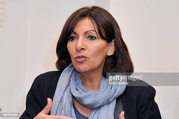 Paris Mayor Anne Hidalgo attends D'Days at the Ateliers de Paris D'Days showcases up and coming young French designers on May 22 2014 in Paris France