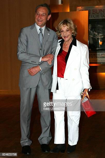 Paris Mayor Bertrand Delanoe and actress Jeanne Moreau attend the 21st 'Fete du Cinema' in Paris