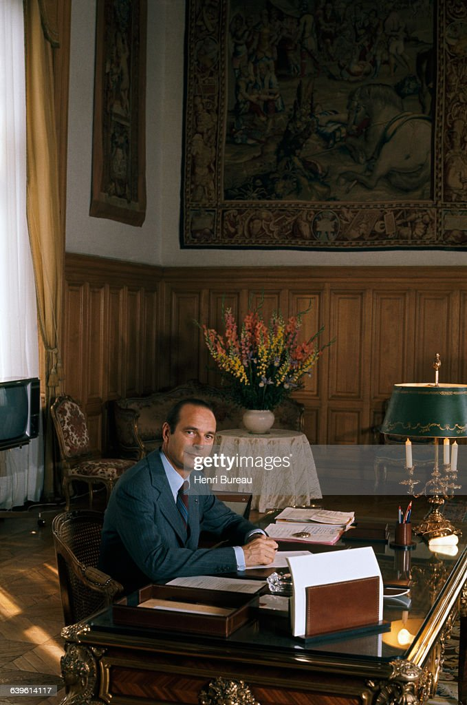 Paris Mayor Jacques Chirac in his office at the Hotel de Ville.