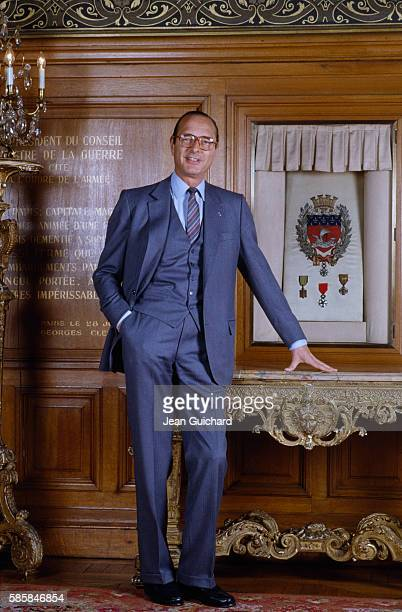 Paris mayor Jacques Chirac in the Paris city hall