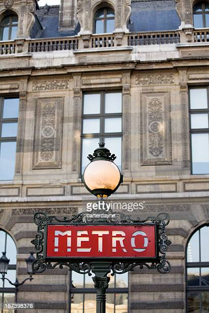 Paris Metro Sign, France