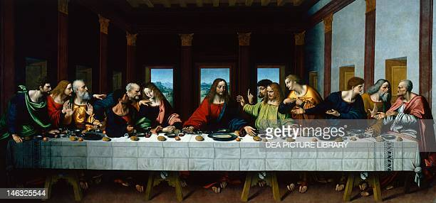 Paris Musée Du Louvre Copy of the Last Supper by Leonardo created by Marco d'Oggiono 16th century