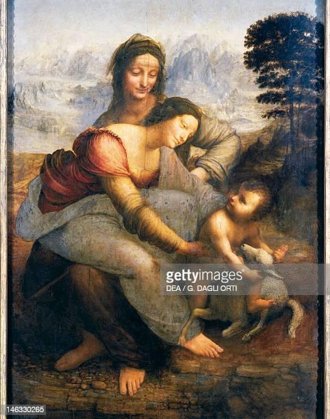 Paris Musée Du Louvre St Anne the Virgin and Child with St Anne 15081513 by Leonardo da Vinci oil on canvas 168x130 cm