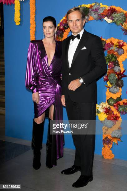 Paris National Opera dance director Aurelie Dupont and General Director of Rolex JeanFrederic Dufour attend the Opening Season Gala at Opera Garnier...