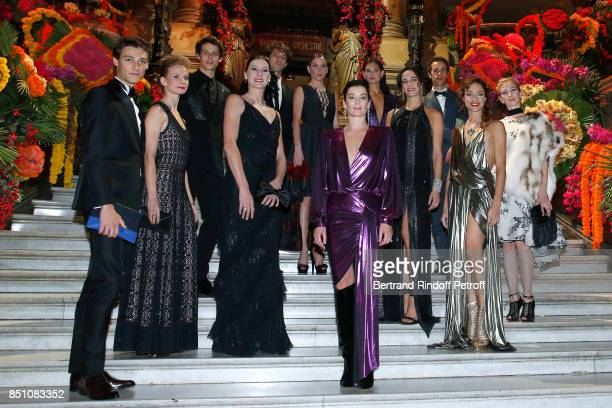 Paris National Opera dance director Aurelie Dupont with Star Dancers Hugo Marchand MarieAgnes Gillot Amandine Albisson Dorothee Gilbert Marc Moreau...