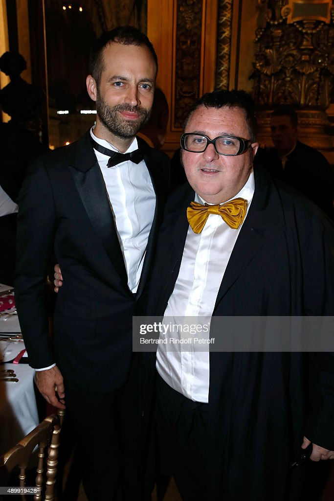 Paris National Opera dance director Benjamin Millepied and Fashion Designer Alber Elbaz attend the Ballet National de Paris Opening Season Gala at...