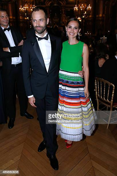 Paris National Opera dance director Benjamin Millepied and Natalie Portman attend the Ballet National de Paris Opening Season Gala at Opera Garnier...