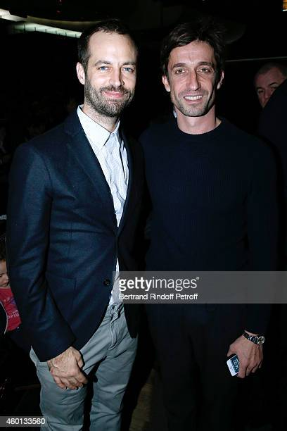 Paris National Opera dance director Benjamin Millepied and Star Dancer Benjamin Pech attend the Matinee 'Reve d'enfants' with Opera 'Casse Noisette'...